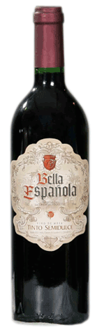 Comprar Vino Bella Española Vino Tinto de Mesa Semidulce