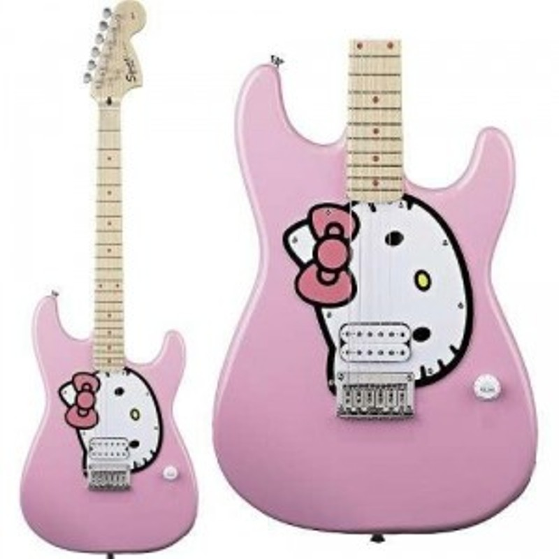 Guitarra Eléctrica Fender Squier Hello Kitty