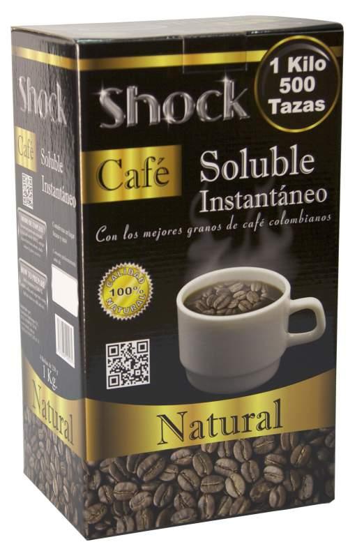 Comprar Café soluble Shock caja de 1 Kilo con 4 bolsas de 250 g