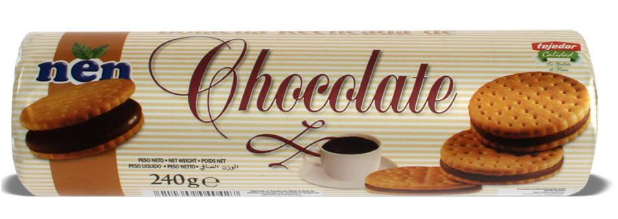 Comprar Galleta rellena de Chocolate 240