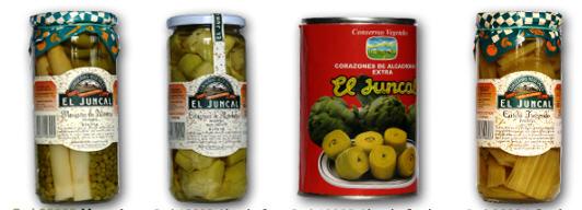 Comprar Conservas naturales de verduras