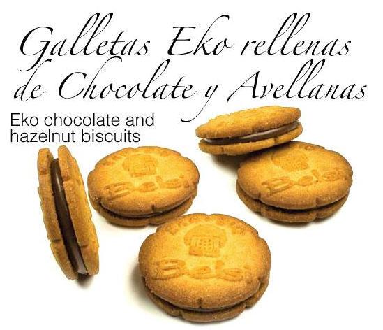 Comprar Galletas Eko Rellenas de Chocolate y Avellanas
