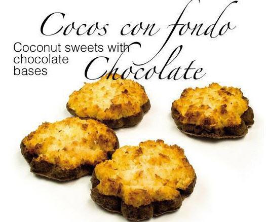 Comprar Cocos con fondo chocolate