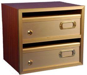 Comprar Buzón madera mod. Saturn Plus-H oro