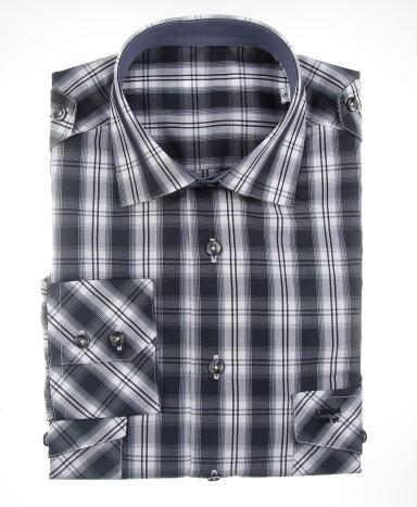 Comprar Camisa sport cuadros grises