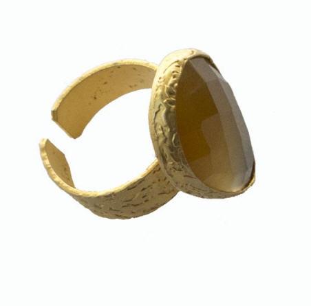 Comprar Anillo baño oro beige