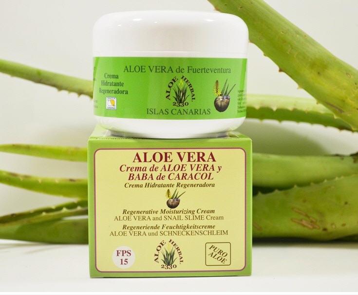 Comprar Aloe Herbal 2330 Crema hidratante regeneradora de Aloe Vera y baba de caracol 200ml