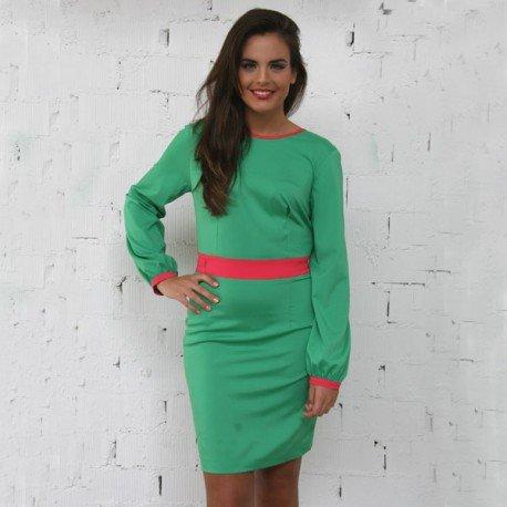 Comprar Vestido verde escote espalda PenadeSuerte