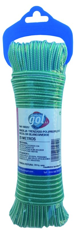 Comprar Cordón trenzado polirpopileno bicolor