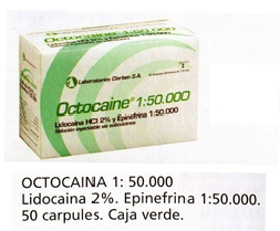 Comprar Anestesia Octocaina Verde 1:50.000