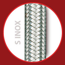 Comprar Tubo de silicona con dos trenzados: Una trenza textil de alta tenacidad y un trenzado de acero inoxidable.