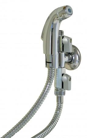Comprar Grifo Bide 27-P. Instalación SIN Obra a la toma de la cisterna. Incluye el Pack: Plataforma T con colgador y 2 llaves paso + Grifo Pistola + 2 Tubos (Cromo y PVC) + Cinta Teflón