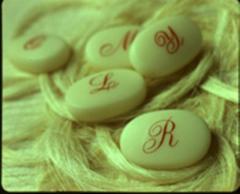 Pastillas de jabón con iniciales