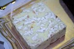 Chocolate blanco con nueces