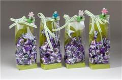 Bolsa caramelo licor violeta