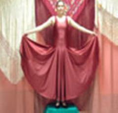 Vestido de baile de lycra