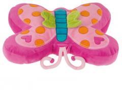 Cojín con forma de mariposa