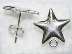 Pendiente estrella con anilla