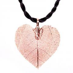 Colgante Hoja Seca forma Corazón efecto Dorado