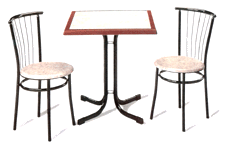 Mobiliario para cafeterías, restaurantes