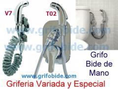 Grifo Inodoro Bide. Pack V7. 1 agua. Elimina el