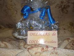Delicias de coco con chocolate