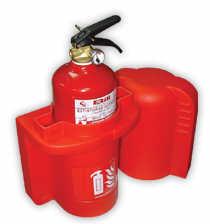 Armario extintor polietileno p/extintor polvo 2Kg,