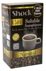 Café soluble Shock caja de 1 Kilo con 4 bolsas de