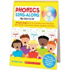 Libro Phonics Sing-Along Flip Chart con CD