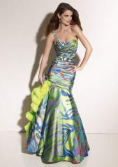 Vestido Printed charmeuse