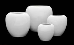 Curve flower pots