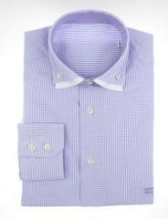 Camisa cuadros morados/blancos
