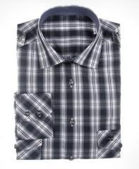 Camisa sport cuadros grises