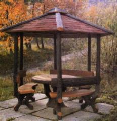 Muebles de jardin de hormigon de imitacion a