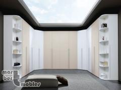 Armario vestidor Olimpo blanco + lacado visón