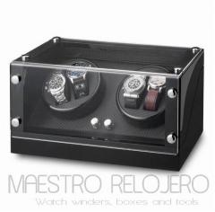 Watch Winder (2 motor 4 relojes) Black-Black