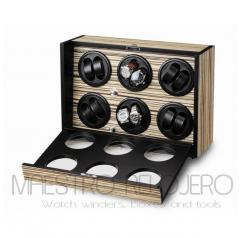 Watch Winder (6 motor 12 relojes) Zebra