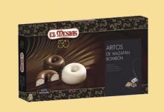 Aritos mazapán bombón tres chocolates