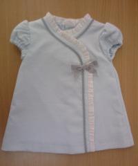 Vestido bebé con manga corta 100% algodón