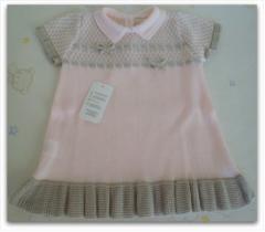 Vestido bebe rosa/gris