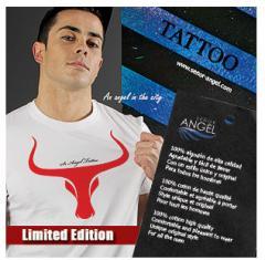 "Camiseta blanca ""El Toro"" Tattoo SEÑOR ANGEL MOD46"
