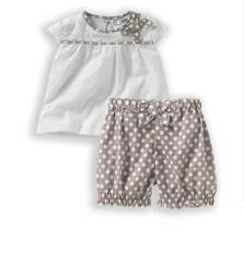 Conjunto de túnica y pantalón bombacho para bebé