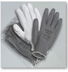 Guante de nylon + PU gris o blanco