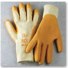 Guante de poliéster-algodón con palma de caucho y dorso transpirable