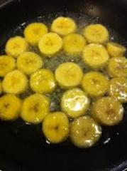 Banana en almibar