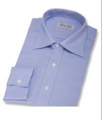Camisa de espiga azul