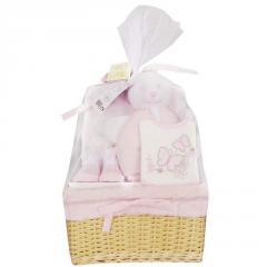 Bee Bo Baby Girls 5Pc Gift Set Pink Newborn