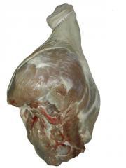 Pork leg bone in round cut