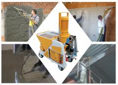 Машина UTIFORM Quattro для нанесения штукатурных и шпаклевочных композиций и их приготовления.