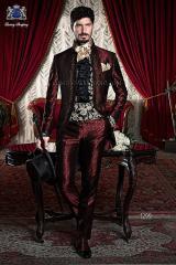 Traje de novio italiano barroco rojo-negro modelo 1299 Ottavio Nuccio Gala.